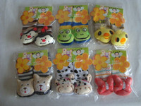 Wholesale Lovely Baby Carton Slipper Socks Kids Home Shoes for Year Old Kids Footwear12 Model