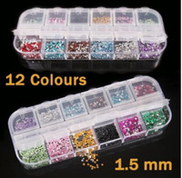 Wholesale Mix Color Teardrop Nail Art Gems Rhinestones Deco Glitters Beautiful decoration set HB975