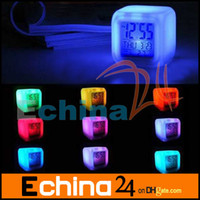 Wholesale Table Desk Digital Alarm Clock Colors LED Display Plastic Clocks