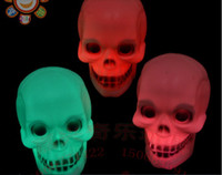 Wholesale Pumpkin lamp Halloween activities props skull small night light LED electronic terrorist colorful