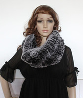 Wholesale Highly Recommend beaver fur rex rabbit fur hand knit neck warmer scarf wrap cape soft warm