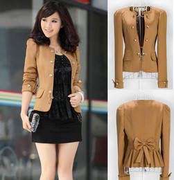 Wholesale Plus XL OL Business Suit Blazer Jacket puff sleeves Fashion Womens coat M L SKU015