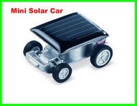 solar powered toys - 100pcs Mini Smallest Solar Powered Robet Racing Car Moving Drive Car Fun Gadget Toy For Kids