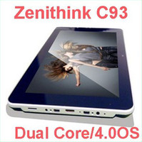 Wholesale Zenithink C93 with quot Capacitive Android Cortex A9 Dual Core GHZ G RAM G ROM tablet pc