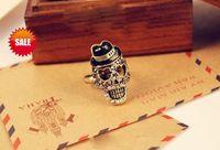 Wholesale Skull Ring Vintage Punk Bohemian Diamond Skull Rings Crystal Skulls Rings Best gifts Fast Shipping
