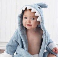 Wholesale EMS free Animal Baby hooded bathrobe baby bath towel bath terry children infant bathing robe YP5