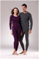 Wholesale Women and men thermal underwear medium thick velvet wool cashmere cotton thickened