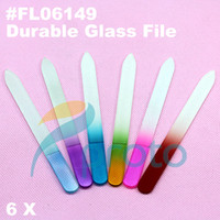 Wholesale 6 xDurable Crystal Glass Nail File Buffer Art Files New FL06149