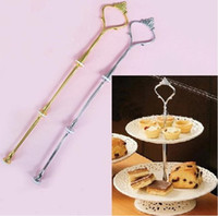 Wholesale Hot Selling Cake Stand Handles Fittings Tier Cake Fruits Stand Metal Centre Handle