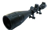 Wholesale 6 x50 AOE Brand New R amp G illuminated riflescope free ship