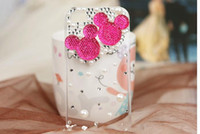 Wholesale Iphone4 cell phone pearl diamond apple s cell phone phone sets