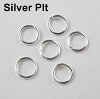 Wholesale IN STOCK mm Jump Rings Open Connectors Gold Silver Bronze Copper LZ031