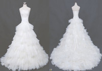 White New Fashion Ball Gown Floor length Fold Organza Bridal...