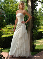 2012 New Elegant White A Line Strapless Floor length Beading...