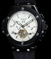 Precio de Esfera blanca para hombre de los relojes automáticos-A estrenar Hombres de lujo automático BIGBANG automático reloj mecánico deportivo buceo mens relojes JARAGAR esfera blanca / Negro dial