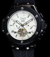 Prezzi Orologi jaragar-Brand New uomini di lusso della vigilanza automatica di sport del Mens di immersione meccanici automatici BIGBANG orologi quadrante bianco JARAGAR / quadrante nero