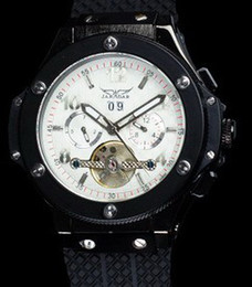 Descuento esfera blanca para hombre de los relojes automáticos A estrenar Hombres de lujo automático BIGBANG automático reloj mecánico deportivo buceo mens relojes JARAGAR esfera blanca / Negro dial