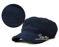 Wholesale Lady Service Cap Ceiling Cap Ladies Leisure Wool Hat Female Cap