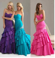 Fashion Sexy 4 Sheath Satin Sweetheart Floor length Applique...