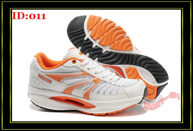 Tie Bao Women Fitness Shoes Lady Shape Ups Walking Shoe Orange Fashion