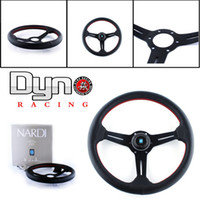 Wholesale Nardi mm Red Stitch Genuine Leather Steering Wheel Deep Dished