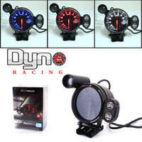Wholesale 80mm DEFI BF Advanced Stepper Motor Tachometer Peak Memory Auto Gauge Blue Red OR White LED