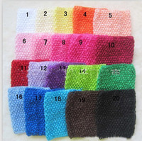 Wholesale baby inch Crochet headhand South Korean silk hair children with crochet headband Y AUG67