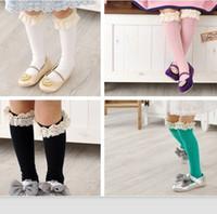 Wholesale up Mix order EMS FEDEX to AU US UK FR NL CA imported children socks color lace cute tube socks color spot AUG69