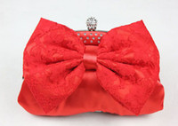 Wholesale New evening bag with bow Bridal package bridesmaid bag handbag purse wedding gift Totes bags