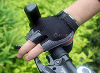 Wholesale 2012 new cycling half finger gloves silicone gloves breathe freely