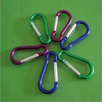 Cheap Free Shipping 6 X Aluminum Carabiner Camp Snap Hook Keychain Hiking