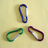Wholesale 6 X Aluminum Carabiner Camp Snap Hook Keychain Hiking