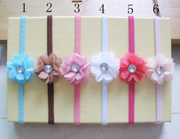 Wholesale Baby Girls Headbands Children Hairbands Heardress Hair Accessory Elasteic Lace Rhinestone L HB29