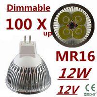 Wholesale 100X up Dimmable LED High power MR16 W W W led Light led Lamp led Downlight led bulb spotlight
