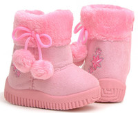 Wholesale Children s New Boots Small Pompon Cotton Boots Baby s Toddlers Shoes Children s Shoes
