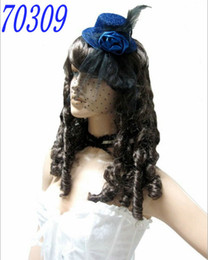 Wholesale Mini Top Hat Costume Top Hat Veil Small Bowler Hat Costume Top Hat Blue Sexy Chic