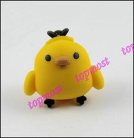 Wholesale Cute GB Yellow Chicken USB Flash Memory Pen Drive Disk Stick Drives Sticks Thumbdrive