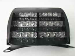 New 18 LEDs Emergency Vehicle Yellow Light Strobe Lights Windshields Dashboard Flash Warning Light for Truck Ambulance SUV
