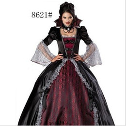 Wholesale Sexy Female vampire zombie clothing Halloween witch clothing masquerade party queen clothing