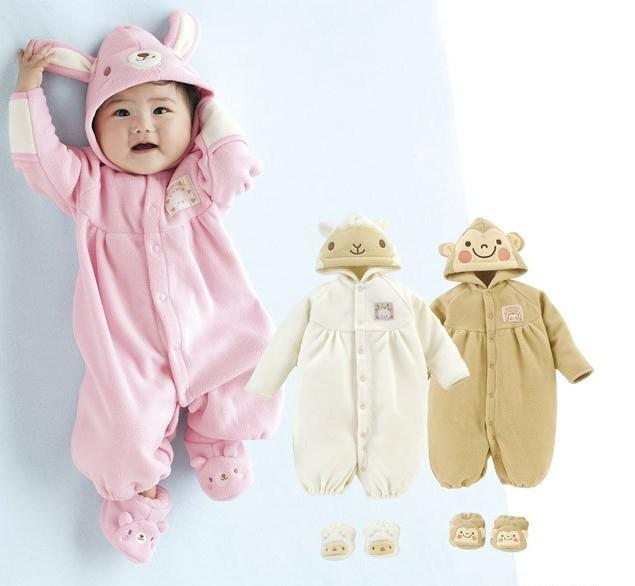 New Arrival Baby One Piece Animal Romper Cute Infant Long