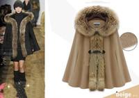 ask wool jacket - New monde Noble Raccoon collars ask cloak Wool Jacket shawl Cashmere woolen cloth Coat