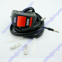 Wholesale 12V Motorcycle Bike Handlebar Kill Stop Switch ON OFF Button Bullet Connector