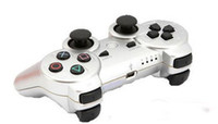 Wholesale Promotion Silver Wireless Bluetooth Games Controller for ps3 game controller mix color