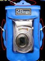 Wholesale Underwater Waterproof Case Bag Pouch For Digital Camera ski Swimming Beach Floating