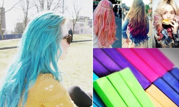 24 couleurbote5box 120pcs craie cheveux temporaire cheveux craie couleur colorant pastel - Coloration Cheveux Craie