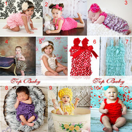 Wholesale Satin Lace Ruffle Rompers Lace Petti rompers Baby Infant Toddler Girls U pick color Chirstmas T