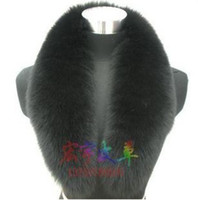 Wholesale Top quality genuine fox fur collar scarf wrap blcak color