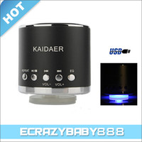 Wholesale High Quality Metal Mini Kaidaer KD MN01 USB Micro SD Card Speaker Loudspeaker for CD MP3 MP4 Player