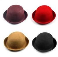 hats elegant - 2012 Women s Wool Bowler Hat Elegant Women Bowler Hats Fashion Retro Hat Color Haute Party Hat