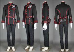 Wholesale D Gray Man Cosplay Costume Allen Walker III uniform Mask Cloak Sword Wig Boots D Gray man